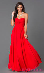 this in navy blue strapless prom dress with lace up back at