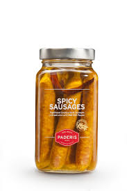 greek spicy sausages in extra virgin olive oil u0026 red chili pepper