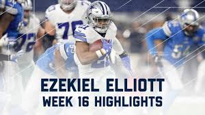 ezekiel elliott 80 yards 2 tds lions vs cowboys nfl