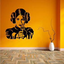 online get cheap star wars wall stencils aliexpress alibaba princess leia star wars movie art wall decal sticker removable vinyl transfer stencil mural home room