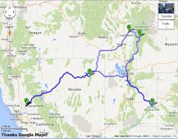 Wyoming Road Map 2013 Epic Road Trip California To Jackson Hole Wyoming Trails