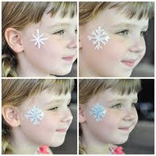 snowflake face paint for your little elsa suburble