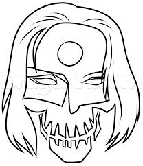 Step 5 Draw Suicide Squad Katana Skull