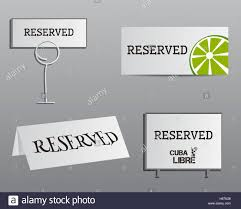 reservation sign mock up template summer cocktail party with cuba
