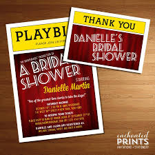 themed invitations broadway playbill invitation theater themed nyc bridal