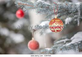 ornaments hanging tree stock photos