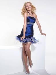 princess taffeta tulle blue strapless knee length shoulder strap