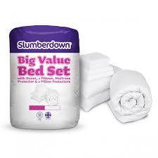 Tog In Duvet Big Value Bed Set Duvet Pillow U0026 Protectors Slumberdown