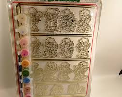 vintage paint by number kit etsy