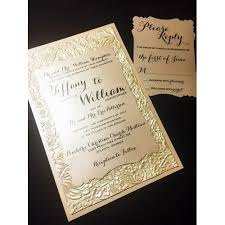 fancy wedding invitations embossed wedding invitation luxury wedding invitations