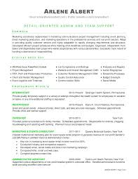 sample resume administrative coordinator marketing communications