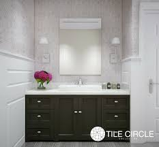 White Bathroom Tile by Grey Tiles Lead The Way Tile Circle