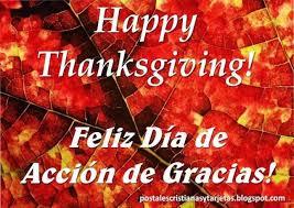 postal feliz día de acción de gracias happy thanksgiving