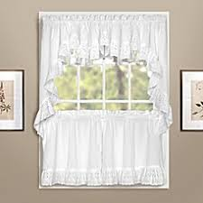 white curtain with small window for kitchen window curtains