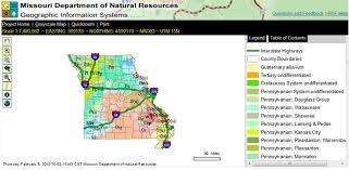missouri map data missouri geological survey