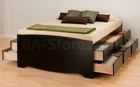 Black Bed Sets Prepac Sonoma 3pc Queen Platform Storage Bedroom Set Black