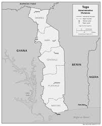 Map Of Usa Capitals by Togo Administrative Map With Regions Capitals Greyscale