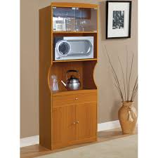 furniture hazelwood home microwave carts with 2 shelves for