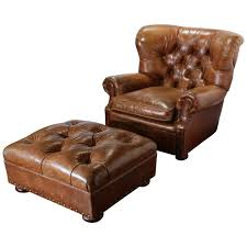 Vintage Leather Club Chair Large Vintage Ralph Lauren Brown Leather Armchair With Matching