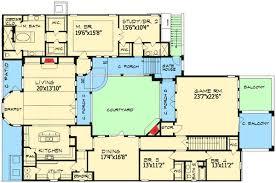 courtyard floor plans plan w36847jg european home plan with central courtyard e