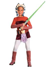 Halloween Costume Kids Girls Child Deluxe Ahsoka Costume Kids Girls Clone Wars Costumes