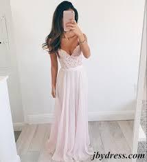 a line sweetheart neck light pink long lace prom dress light pink