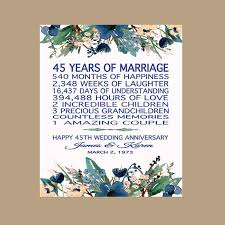45 year anniversary gift 45th wedding anniversary gift for parents sapphire