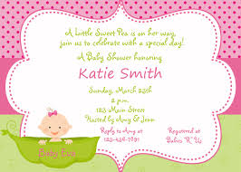 Babyshower Invitation Card Template Baby Shower Invitations For Girls