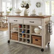 overstock kitchen islands eleanor two tone rolling kitchen island with wine rack free