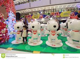 apm snoopy decoration in hong kong editorial photo