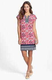 laundry by shelli segal laundry by shelli segal multi flower color geo print shift mid