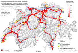 Swiss Map Volume Maps Motor Roads