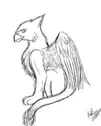 7 images of griffin mythical creatures coloring pages griffin
