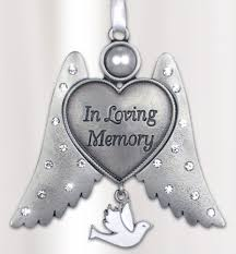 in loving memory charms bereavement sympathy angel wings ornament in loving