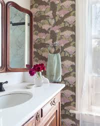 Fabulous Wallpaper In Bathroom With Wallpaper Creates A One Of A Kind Family Home In Colorado U2013 Design