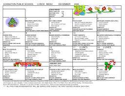 free printable menu calendar menu templates calendar