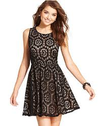 speechless juniors dress sleeveless lace illusion juniors