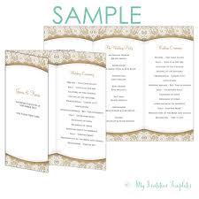 wedding program templates free wedding brochure templates free awesome sle wedding program