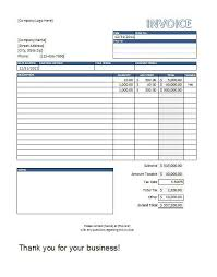 Excel Invoice Template Free Sales Invoice Template Excel Free Invoice Exle