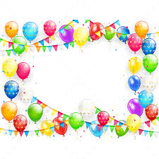 birthday balloons birthday balloons and multicolored confetti on white background by losw