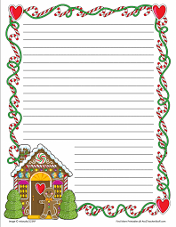 Paper With - free writing pages gingerb printable border paper and out