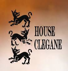 game of thrones wall sticker sigils house of clegane vinyl decal