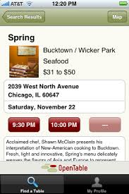 Open Table Chicago Opentable U0027s Iphone App Makes Reservations A Breeze Ars Technica