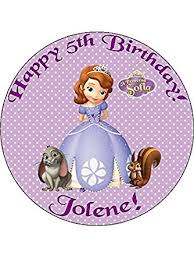 sofia the cake topper princess sofia the 7 5 personalised birthday cake