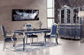 Blue Dining Set by Luxury Dining Room Sets