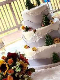 theme wedding cake a mountain theme wedding cake