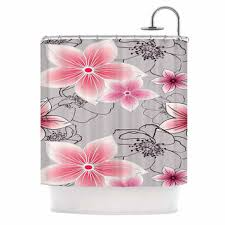 Pink Flower Curtains Best Pink Floral Shower Curtain Products On Wanelo