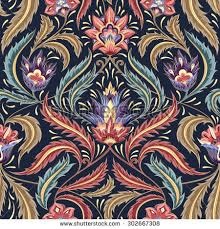 paisley decorative ornament pattern fabric stock vector