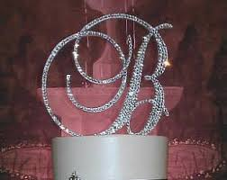 bling cake toppers wedding cake toppers etsy