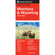 State Map Of Montana by Rand Mcnally Easy To Read State Folded Map Montana Wyoming